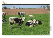 Spring Day With Cows On An Amish Cattle Farm Carry-all Pouch