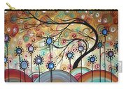 Spring Flowers Original Painting Madart Carry-all Pouch