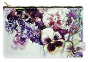 Spring Flowers With Fritillaria  Carry-all Pouch