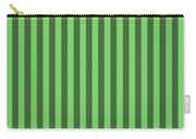 Spring Green Striped Pattern Design Carry-all Pouch