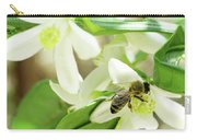 Spring Honey Bee On Orange Flower Carry-all Pouch