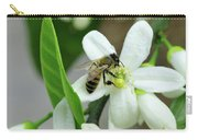Spring Honey Bee Pollinates Orange Citrus Flower Carry-all Pouch