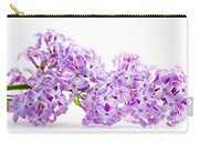 Spring Lilac Flowers Blooming Isolated On White Carry-all Pouch