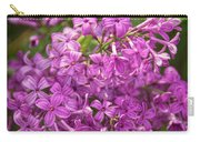 Spring Lilacs On Black Carry-all Pouch