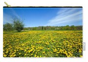 Spring Meadow Full Of Dandelions Flowers And Green Grass Carry-all Pouch