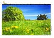 Spring Meadow With Green Grass Carry-all Pouch