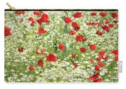 Spring Meadow With Poppy And Chamomile Flowers Carry-all Pouch