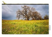 Spring Oak Tree And Wildflowers Carry-all Pouch