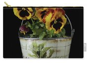 Spring Pansy Flowers In A Pail Carry-all Pouch