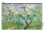 Spring Plum Carry-all Pouch by Elizabeth Carr