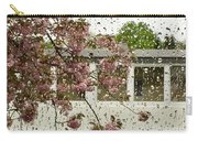 Spring Rain Outside The Window And Sakura Carry-all Pouch
