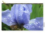 Spring Raindrops Blue Iris Flower Water Baslee Troutman Carry-all Pouch