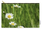 Spring Scene White Wild Flowers Carry-all Pouch