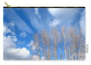 Spring Sky And Cotton Trees Carry-all Pouch
