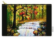 Spring Stream - Palette Knife Oil Painting On Canvas By Leonid Afremov Carry-all Pouch