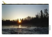 Spring Sunrise Over Mississippi River Carry-all Pouch