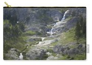 Spring Waterfall In The Tetons Carry-all Pouch