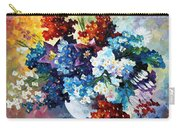 Springs Smile - Palette Knife Oil Painting On Canvas By Leonid Afremov Carry-all Pouch