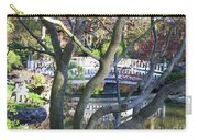 Springtime Bridge Through Japanese Maple Tree Carry-all Pouch by Carol Groenen