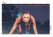 Sprinter Woman On The Start Carry-all Pouch
