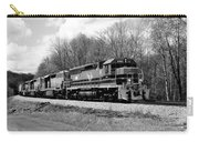 Sprintime Train In Black And White Carry-all Pouch by Rick Morgan