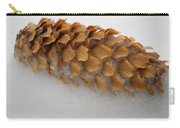 Spruce Tree Cone In The Snow Carry-all Pouch