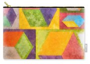 Square Cubes Abstract Carry-all Pouch