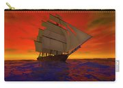 Square-rigged Ship At Sunset Carry-all Pouch