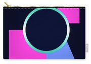 Squares And Triangle Subsumed By Circle Carry-all Pouch