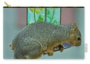 Squirrel At The Bird Feeder Carry-all Pouch