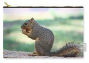 Squirrel Eating Crab Apple Carry-all Pouch