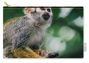 Squirrel Monkey Looking Up Carry-all Pouch