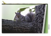 Squirrel On A Limb Carry-all Pouch