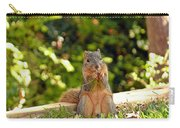 Squirrel On A Log Carry-all Pouch