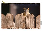 Squirrel On The Fence Carry-all Pouch