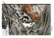 Squirrels At Play Carry-all Pouch