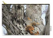 Squirrels At Play Vertically Carry-all Pouch