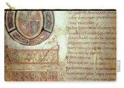 St. Bede, Manuscript Carry-all Pouch