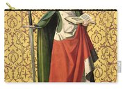 St. Catherine Of Alexandria Carry-all Pouch by Josse Lieferinxe