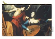 St. Cecilia And The Angel Carry-all Pouch