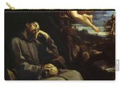 St Francis Consoled Carry-all Pouch