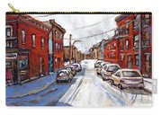 St Henri Depanneur Canadian Paintings Mini Montreal Masterpieces For Sale Petits Formats A Vendre  Carry-all Pouch