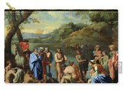 St John Baptising The People Carry-all Pouch by Nicolas Poussin