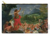 St John The Baptist Preaching Carry-all Pouch
