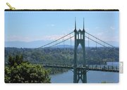 St Johns Bridge And Mount Hood Carry-all Pouch