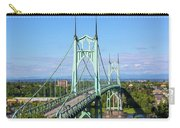 St Johns Bridge Over Willamette River Carry-all Pouch
