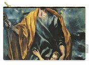 St Joseph And The Christ Child 1599 Carry-all Pouch