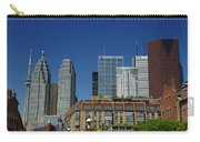 St Lawrence Market And Gooderham Flatiron Building With Cn Tower Carry-all Pouch