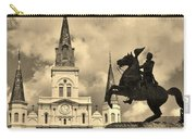 St. Louis Cathedral And Statue Carry-all Pouch