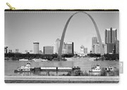 St Louis City Scape In Black And White Carry-all Pouch